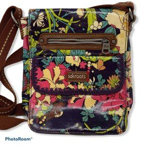 Sakroots Waxed Canvas Floral Crossbody